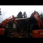 【解体動画 富山】木造解体工事・重機作業(黒部市)