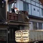 【解体動画 富山】木造住宅の二階部分手壊し解体工事(高岡市)
